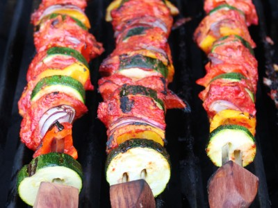 Low Fat Tandoori Chicken Skewers