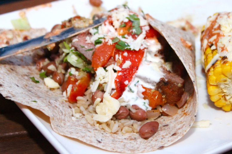 Chipotle Barbequed Steak Burritos