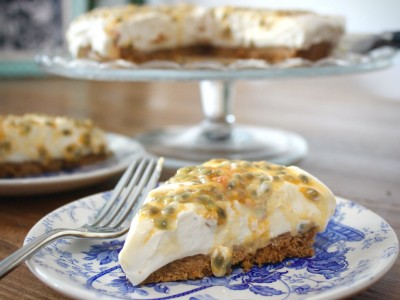 Passion Fruit & Ginger Cheesecake