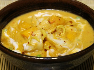 Singapore Cod, Coconut and Noodle Soup