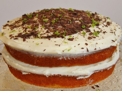 Spiced Rum and Lime Layered Sponge Cake