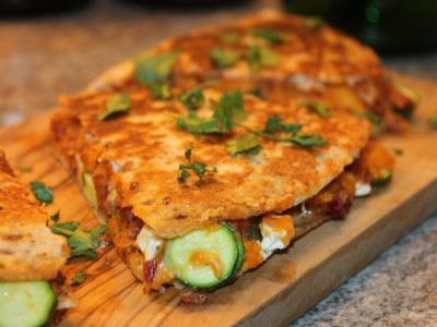 Chorizo and Sweet Potato Quesadillas