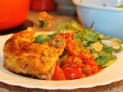 Summer Chicken and Cider Casserole