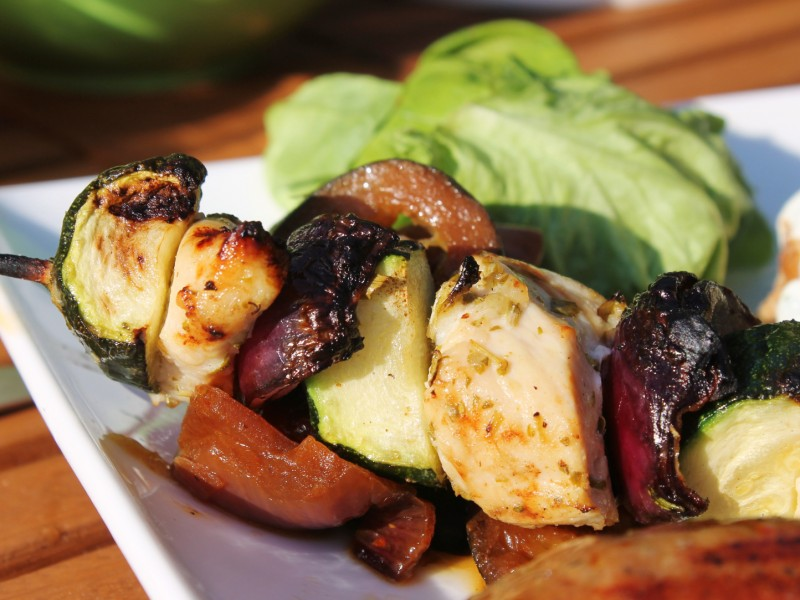 Citrus Barbecue Chicken Kebabs