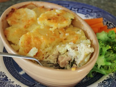 Creamy Chicken and Ham Potato Pie