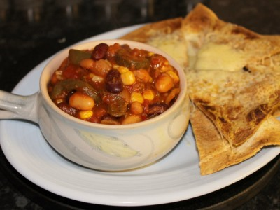 Three Bean Vegetable Chilli