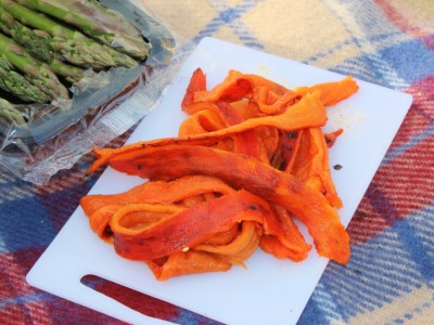 Beach Barbecued Red Peppers