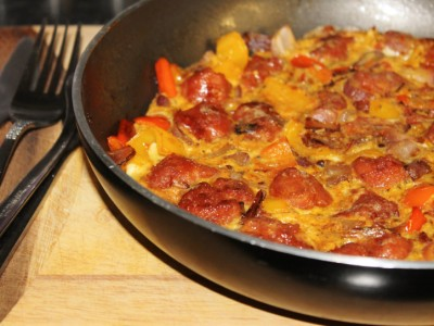 Sausage and Mixed Pepper Frittata