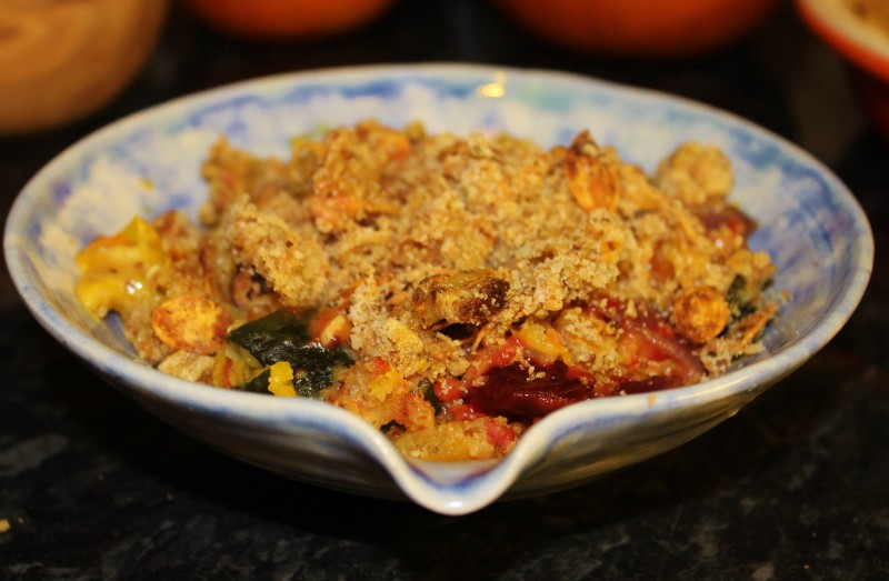 Creamy Roasted Pumpkin and Vegetable Crumble