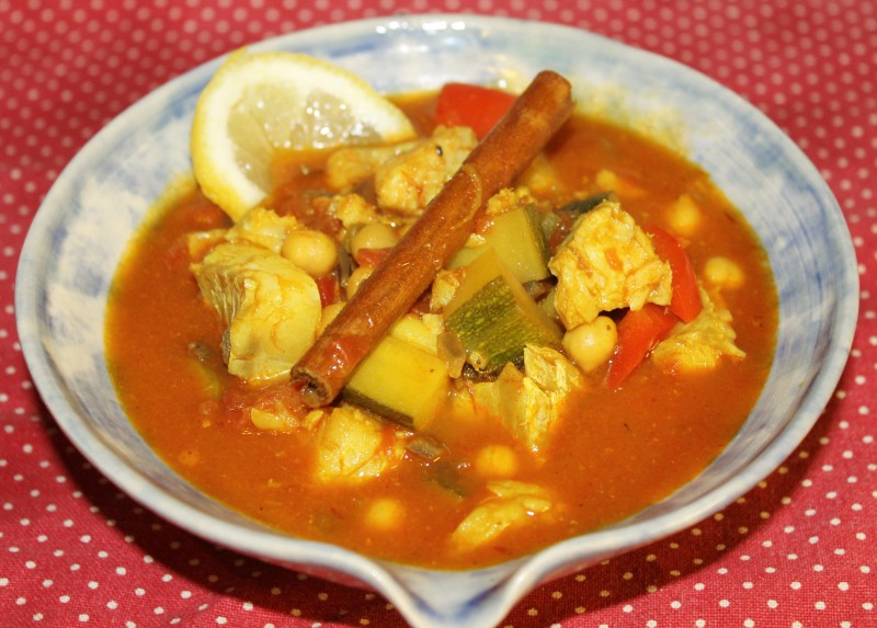 Moroccan Cod and Chickpea Stew
