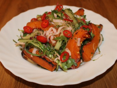 Soy Roasted Squash and Thai Noodle Salad