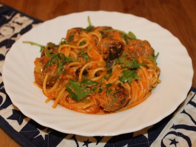 Spicy Meatballs in a Creamy Yellow Pepper Sauce