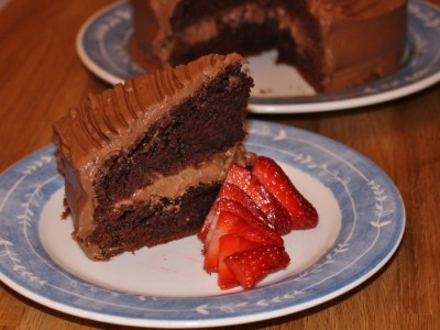 Milk Chocolate Fudge Cake