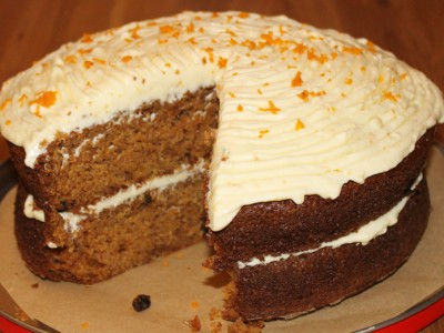 Spiced Squash Cake with Orange Cream Cheese Frosting