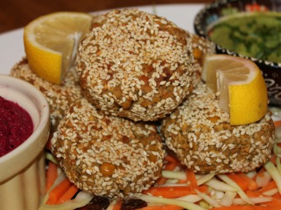 Sesame Coated Falafel