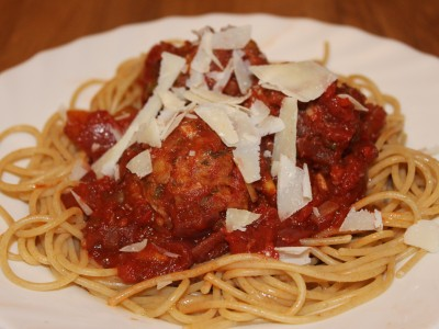 Tuna Meatballs in a Spicy Tomato and Pepper Sauce