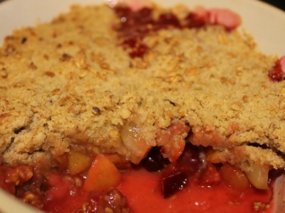 Apple, Plum and Pear Crumble