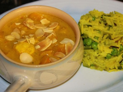 Healthy Chicken & Butternut Squash Korma