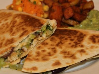 Cajun Chicken & Leek Quesadilla's