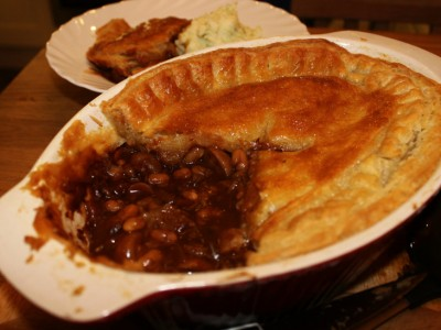 Tasty Steak Pie in a Rich Mushroom Gravy