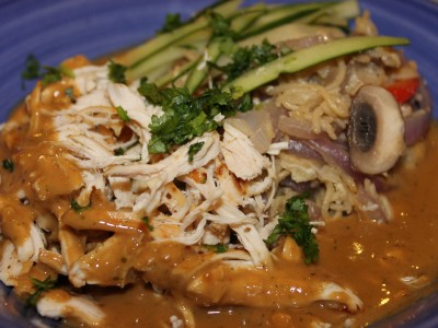 Chinese Chicken Bang Bang with Egg Fried Noodles