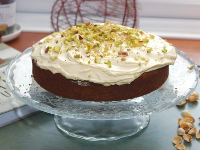 Courgette and Bramley Apple Cake with a Maple Cream Cheese Icing