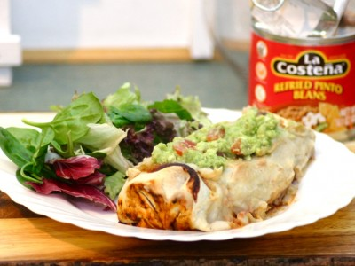 Vegan Enchiladas – Stuffed with Squash Chilli and Topped with a Creamy Cauliflower Sauce