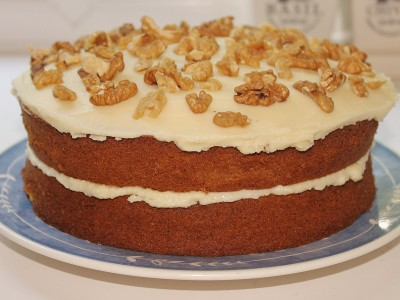 Sticky Ginger Cake With Salted Caramel Icing