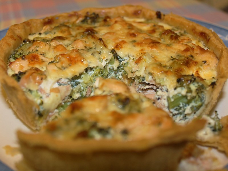 Salmon & Broccoli Tart