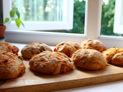Home-baked Roasted Tomato & Onion Bread!