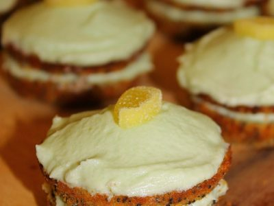 Lemon & Poppy Seed Mini Cake Sandwiches