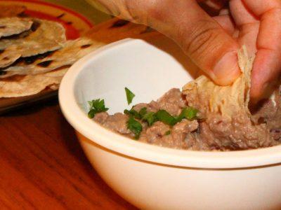 Moroccan Flat Bread and Caramlised Onion Hummus