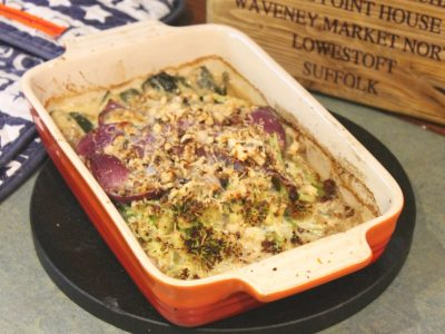 Baked Tenderstem in a Creamy Blue Cheese Sauce